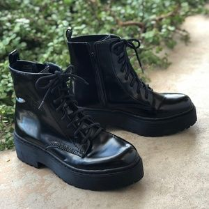 Jeffrey Campbell District Black Leather Boots